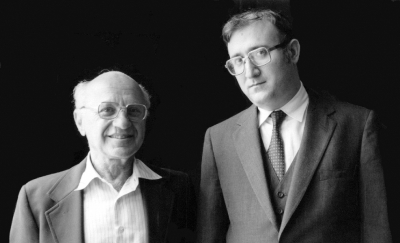 Rabbi Dr. Aaron Levine with Dr. Milton Friedman
